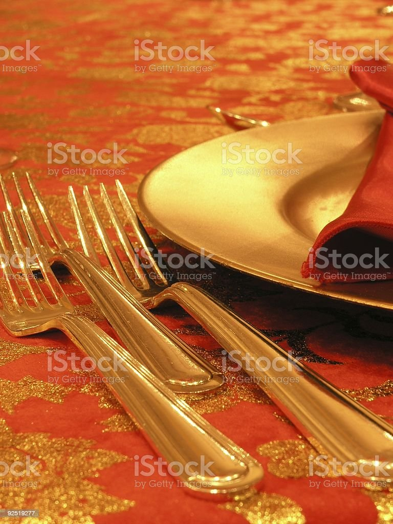 Table set for dinner royalty-free stock photo