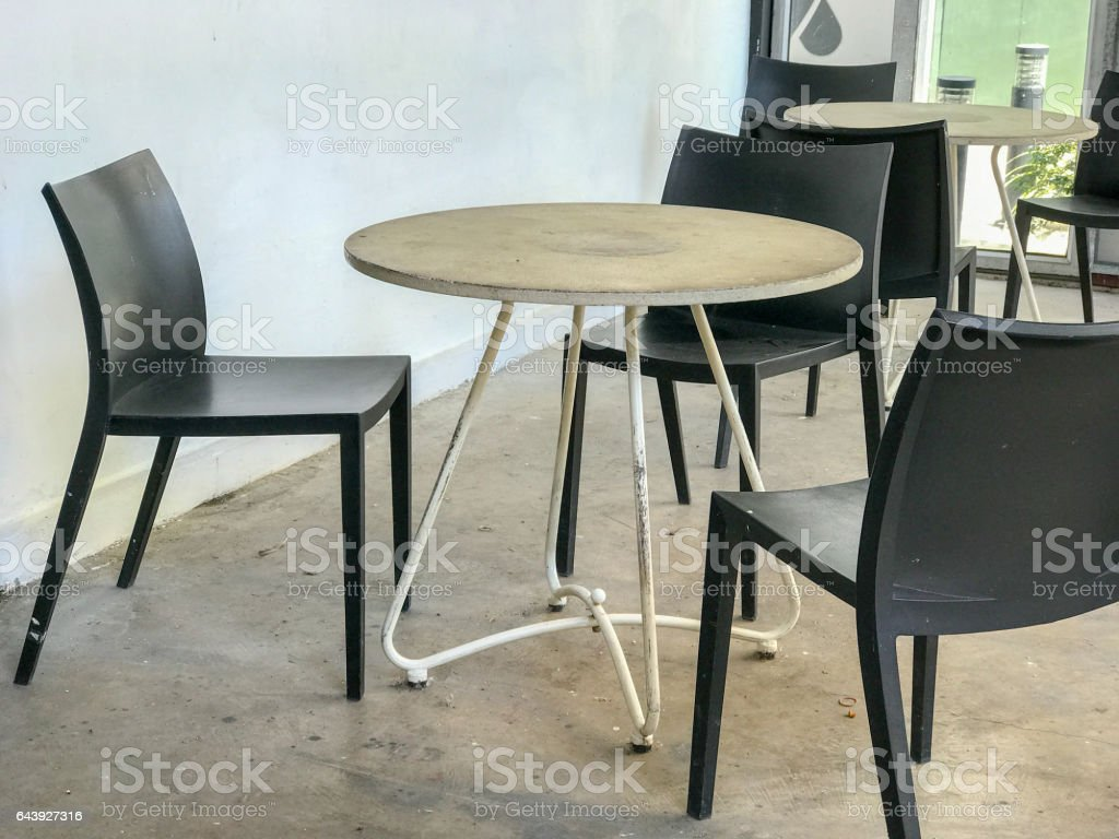 table set in resturant stock photo