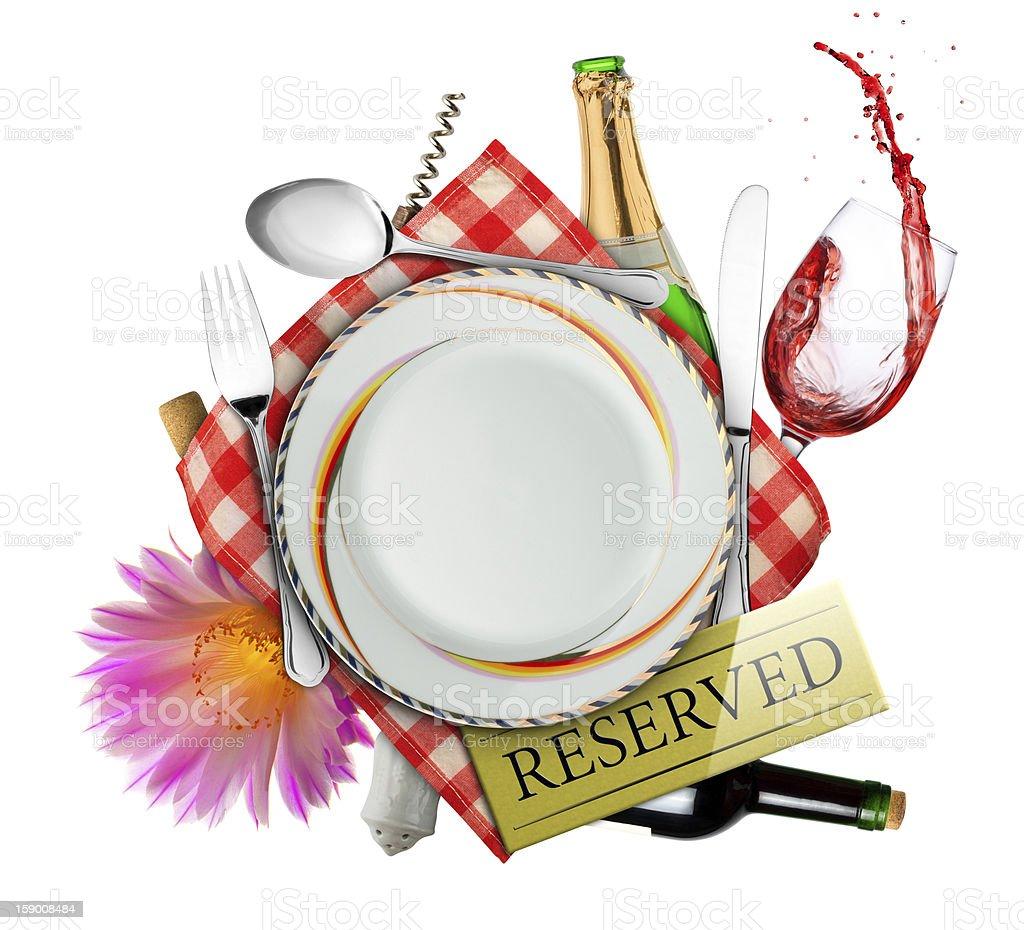 Table set royalty-free stock photo