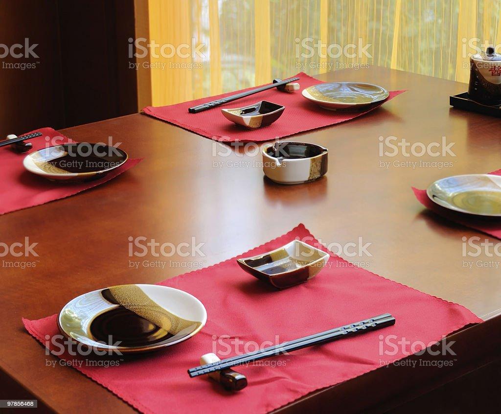 Table set stock photo