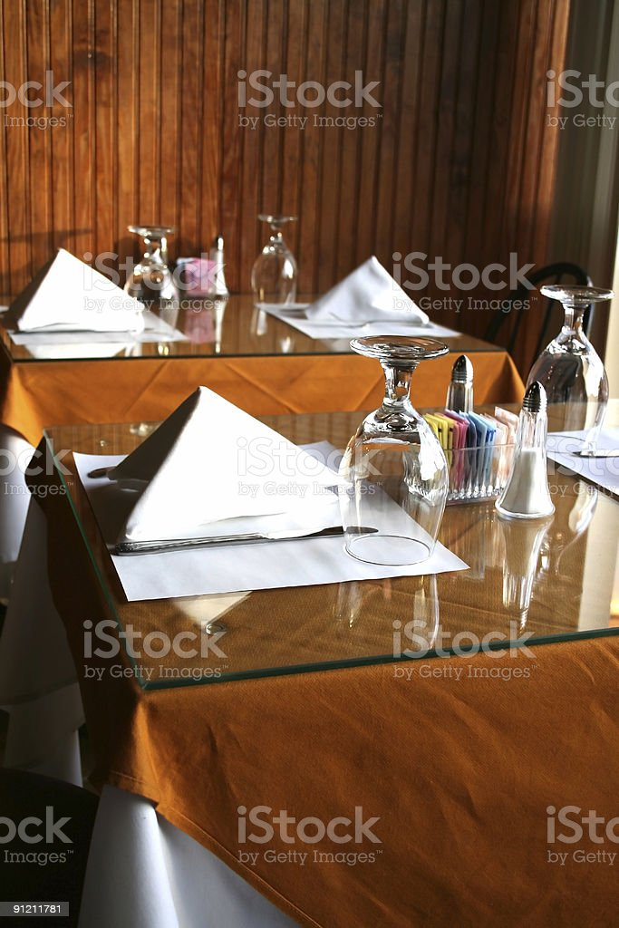 Table Set Up royalty-free stock photo