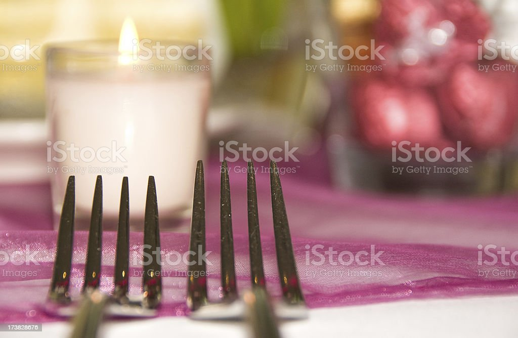 Table set with cutlery royalty-free stock photo