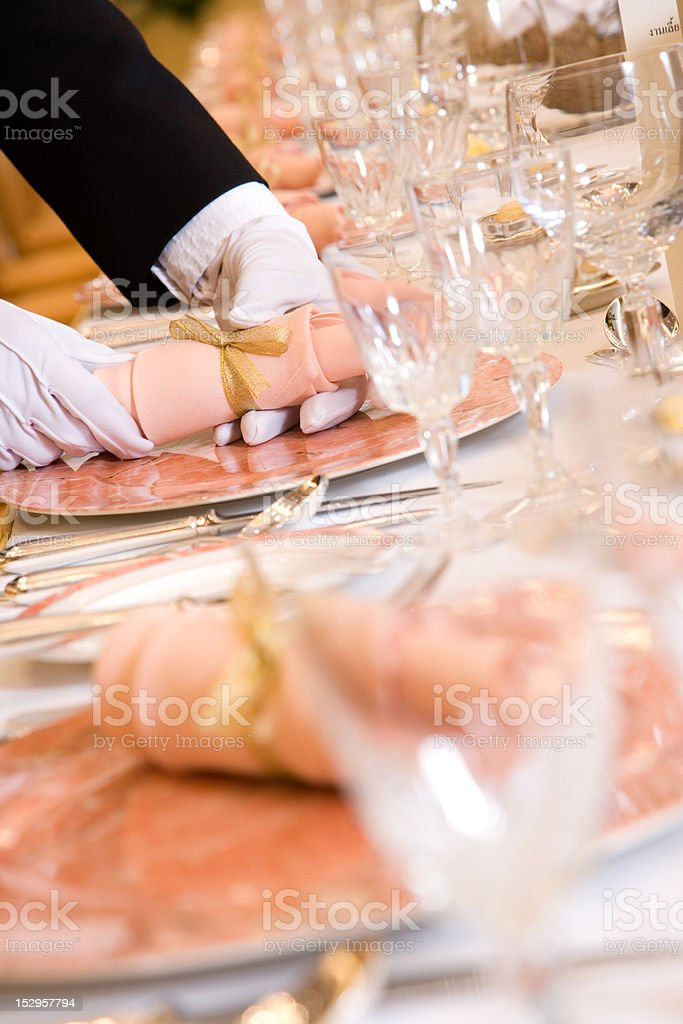 table seting for wedding reception royalty-free stock photo