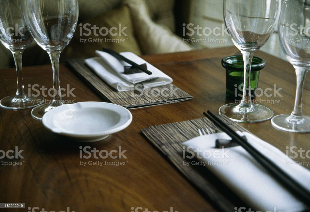 Table Setting - Asian Cuisine stock photo