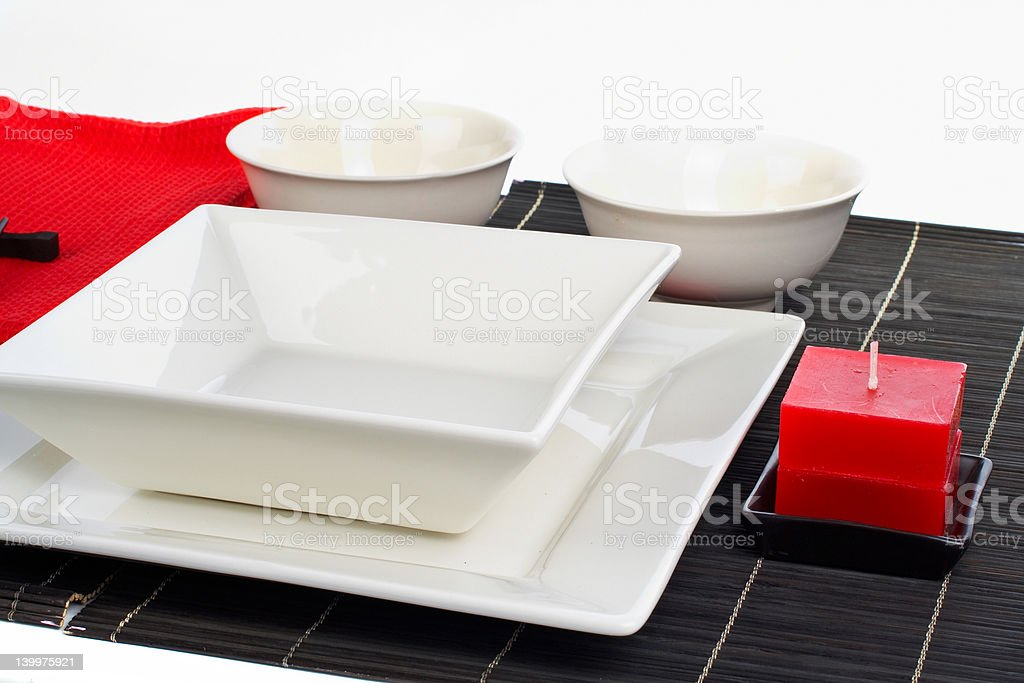 Table setting for a dinner royalty-free stock photo
