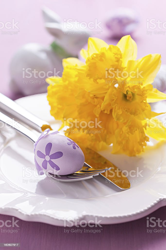 table setting for easter royalty-free stock photo