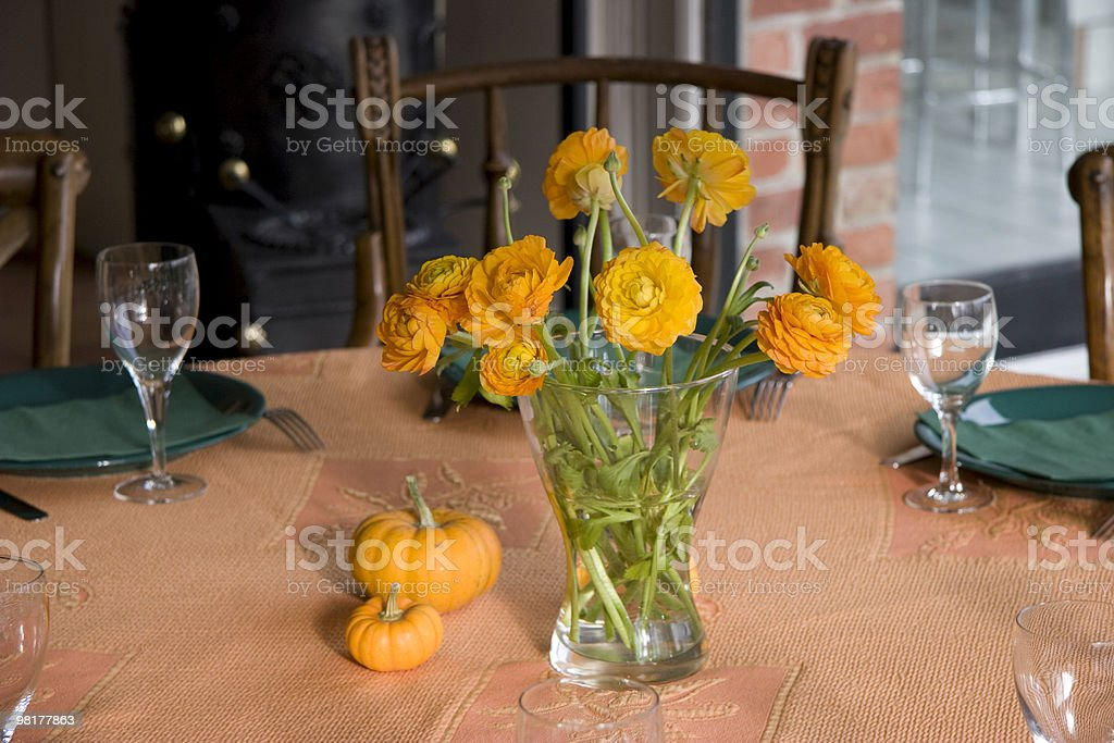 table setting for family dinner royalty-free stock photo