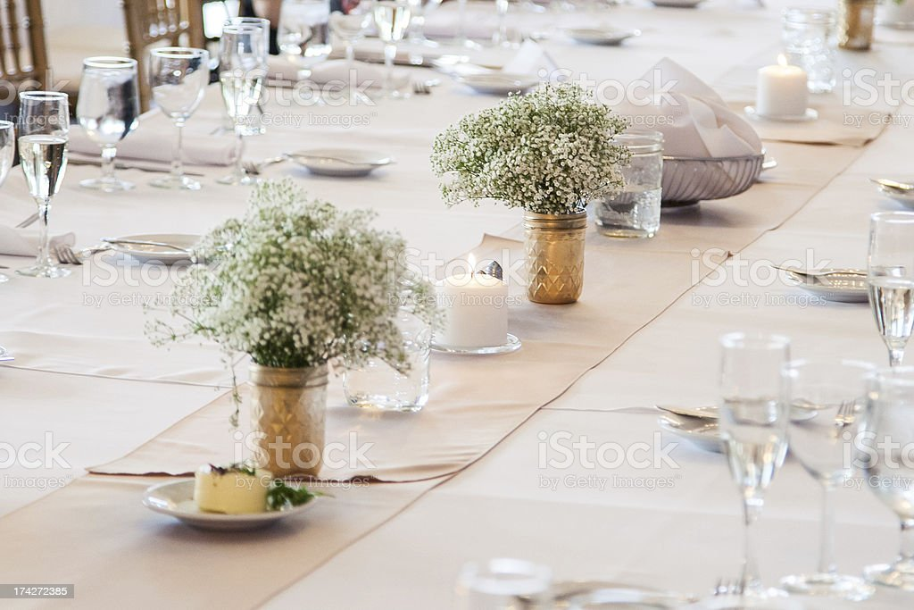 Table Setting for Fancy Event stock photo