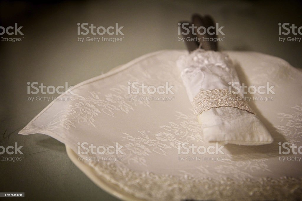 table setting for fine dining vintage style royalty-free stock photo