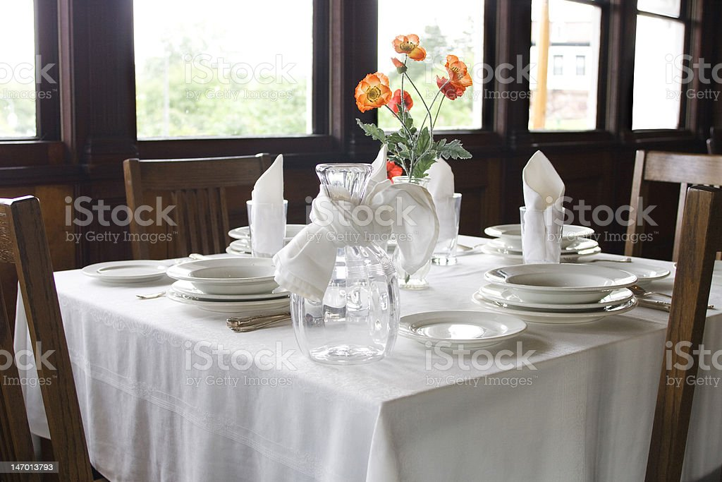 Table setting in restaurant royalty-free stock photo