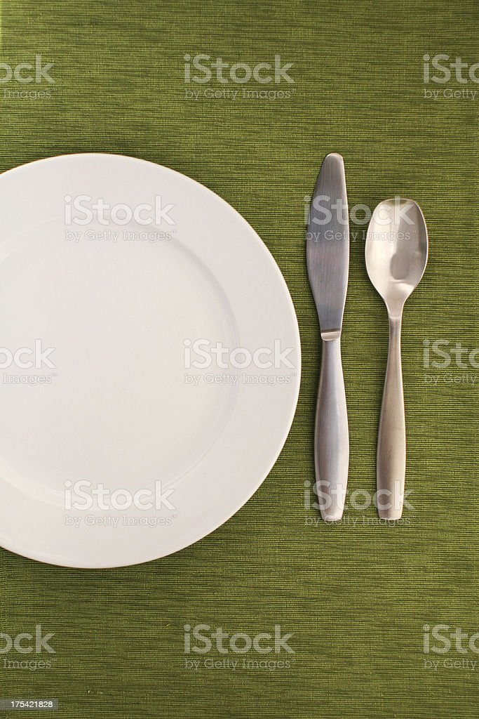 Table Setting on Green royalty-free stock photo