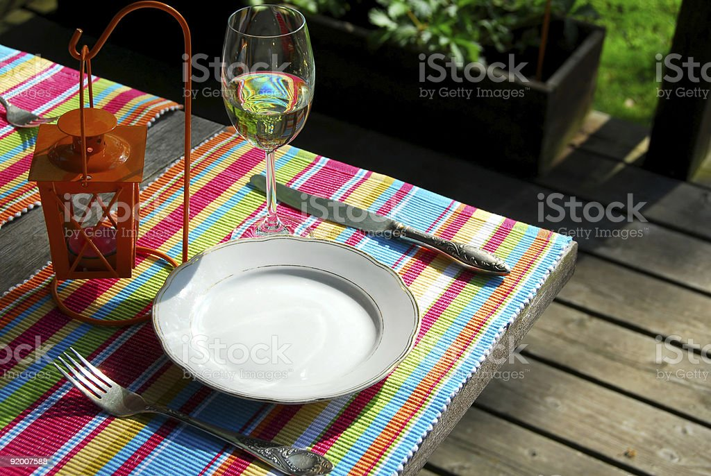 Table setting outside royalty-free stock photo