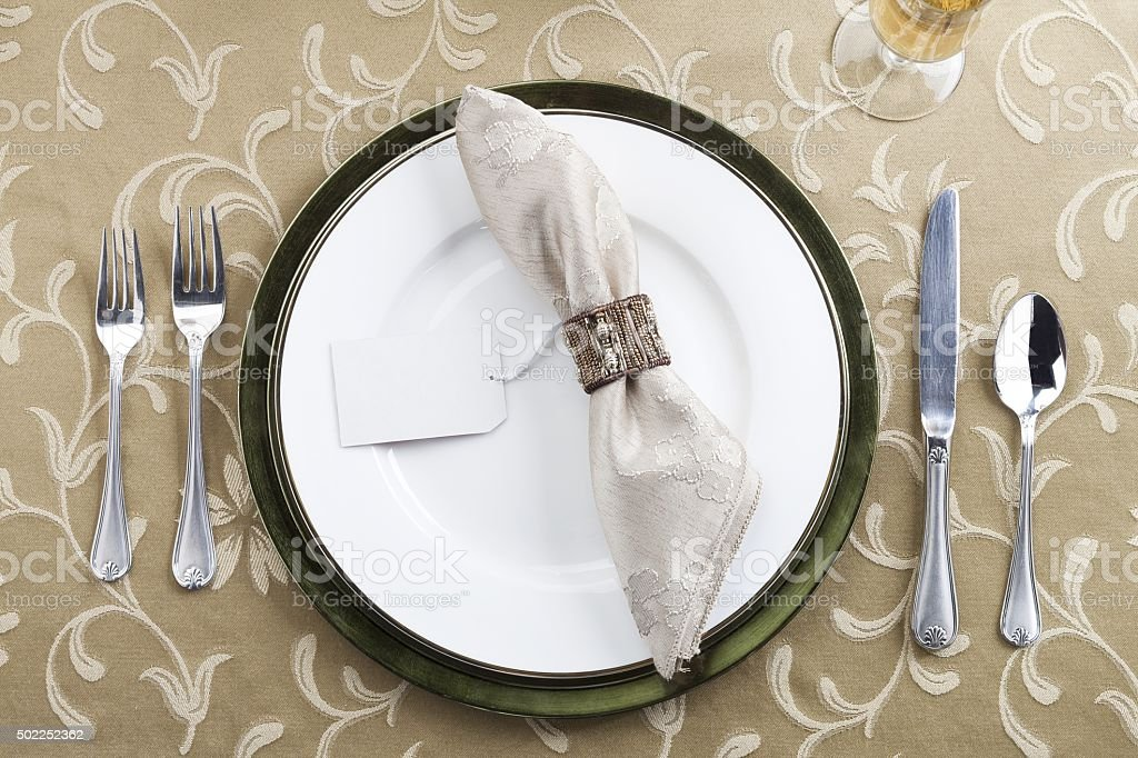 table setting stock photo