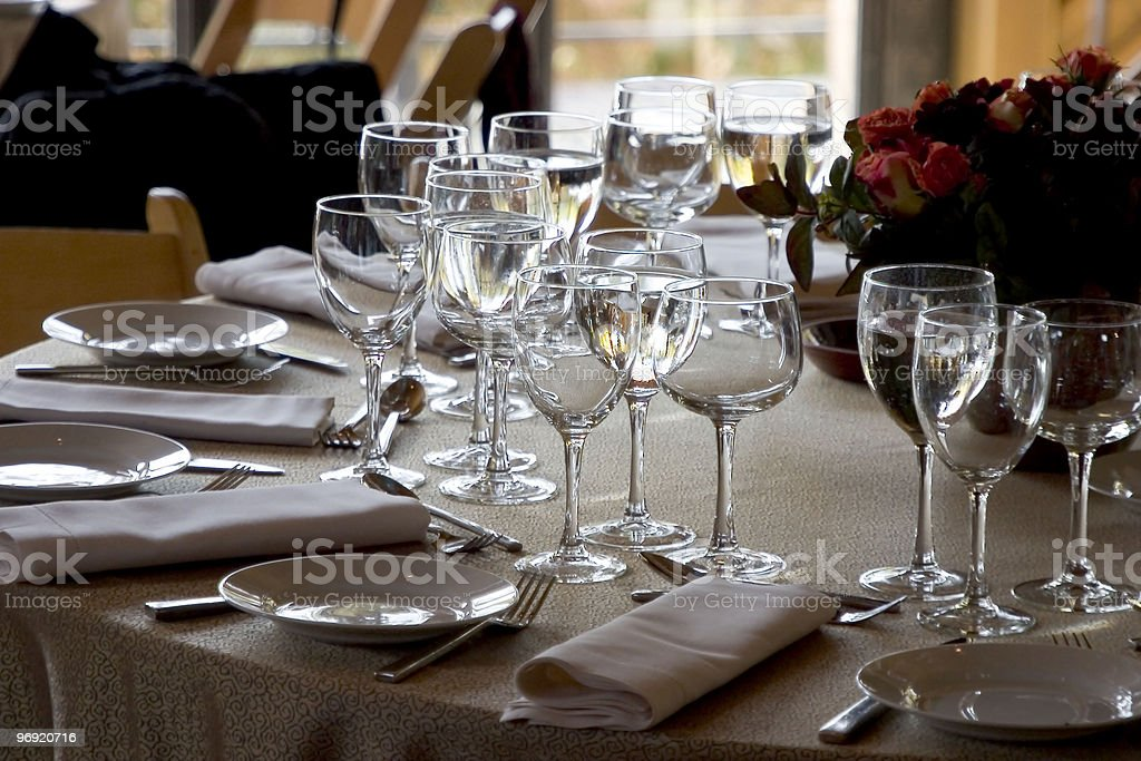 Table Setting #1 royalty-free stock photo