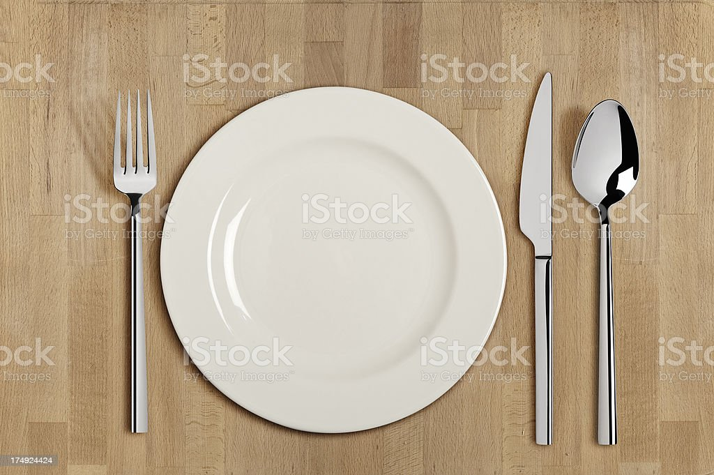 Table Setting With Clipping paths royalty-free stock photo