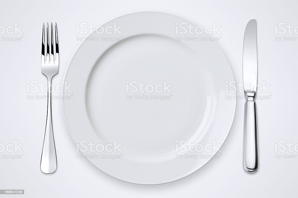Table Setting With Clipping Paths stock photo