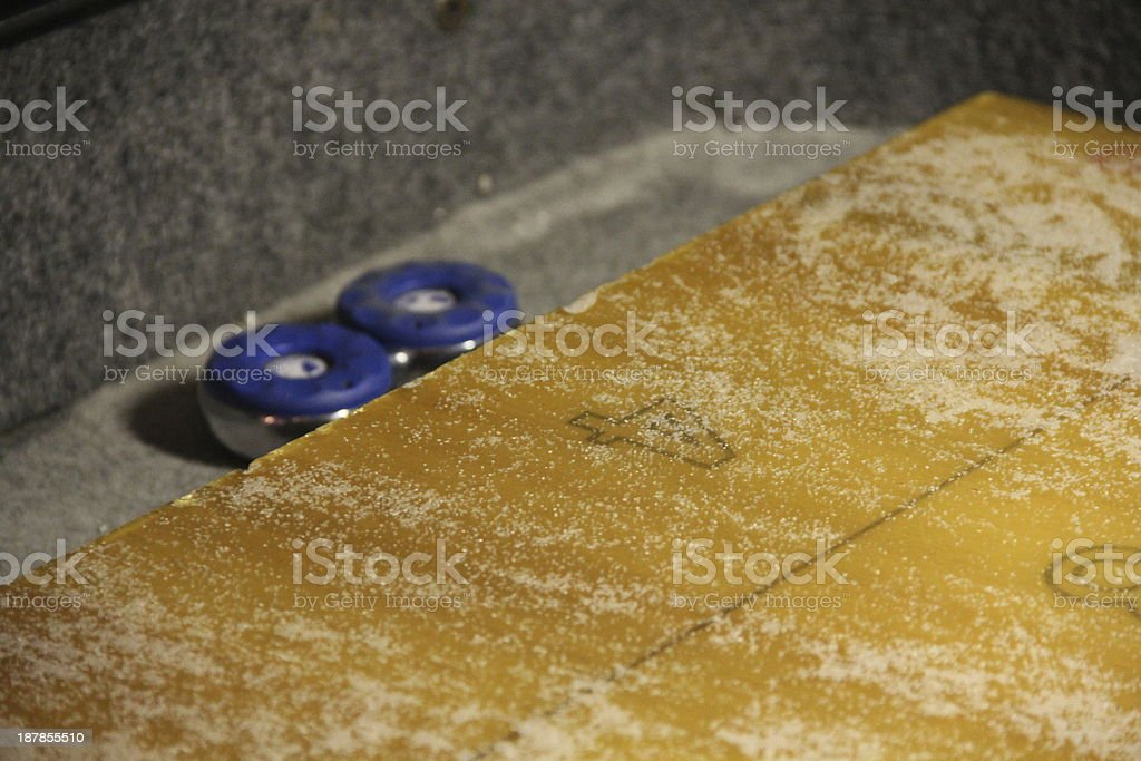 Table Shuffleboard Miss royalty-free stock photo