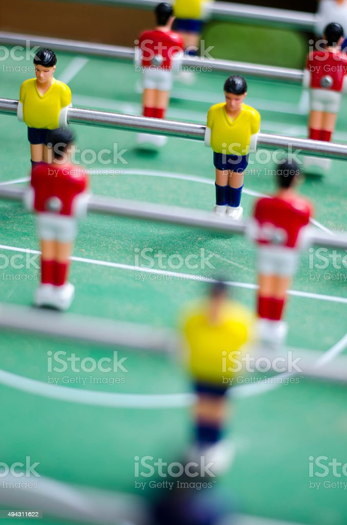 Table Soccer Detail stock photo