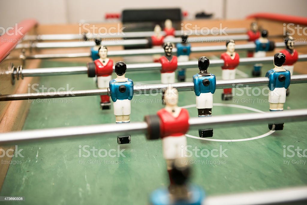 Table soccer with players stock photo