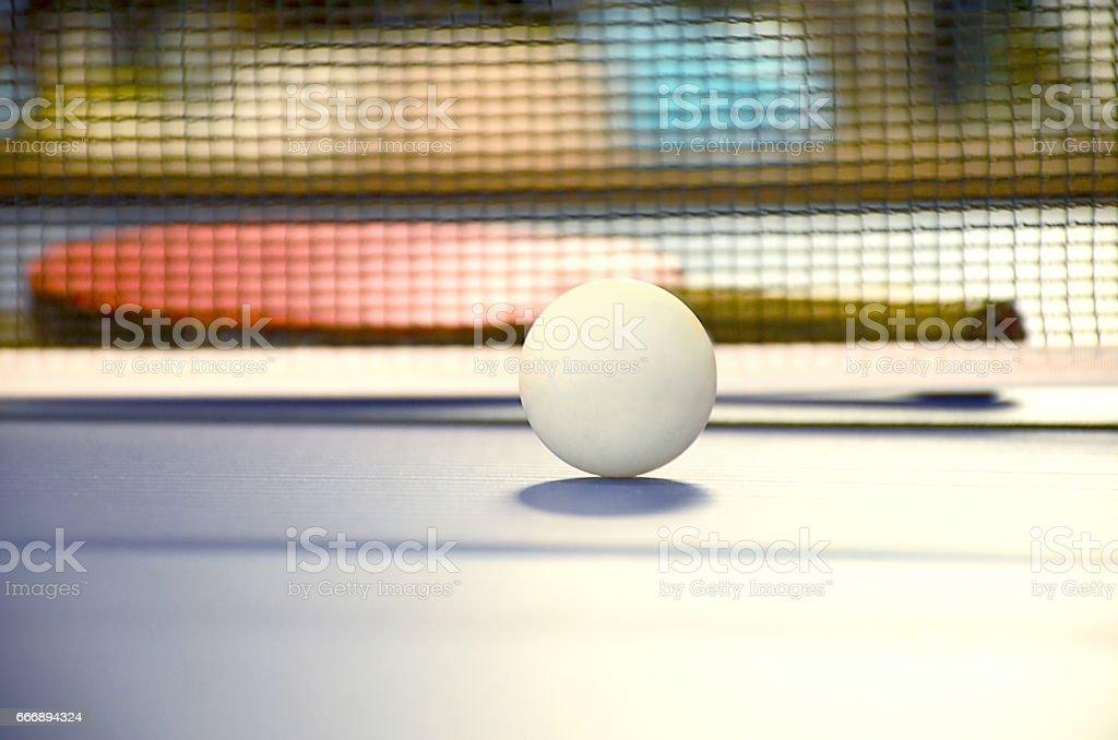 Table Tennis Ball and Bat stock photo