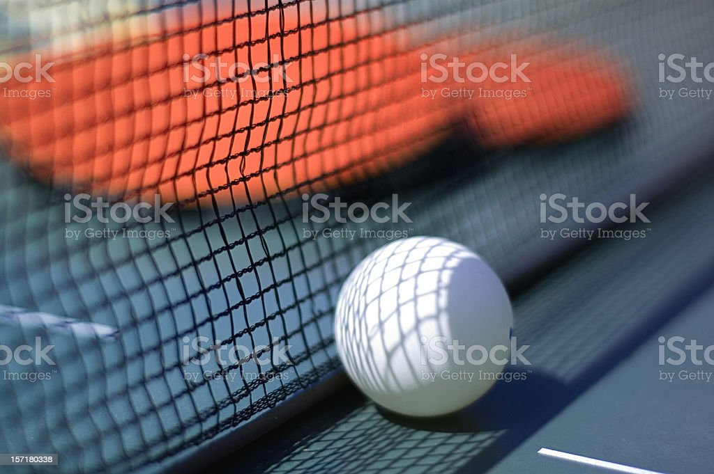 Table Tennis Ball and Bats stock photo