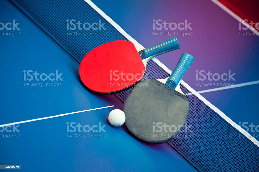 Table Tennis Ball and Bats royalty-free stock photo