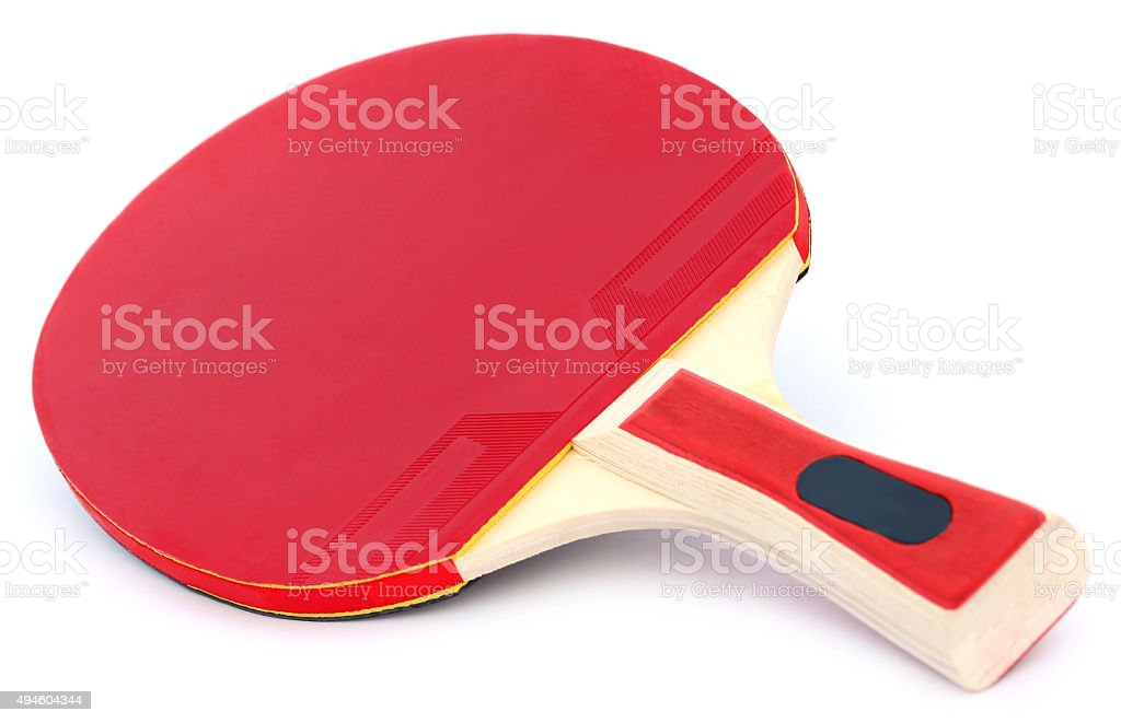Table tennis bat stock photo