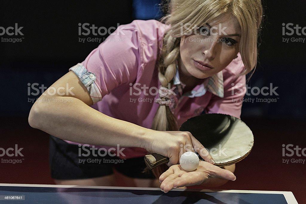 Table tennis champion royalty-free stock photo