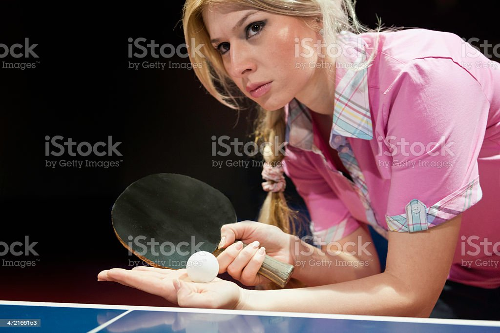Table Tennis Champion royalty-free stock photo
