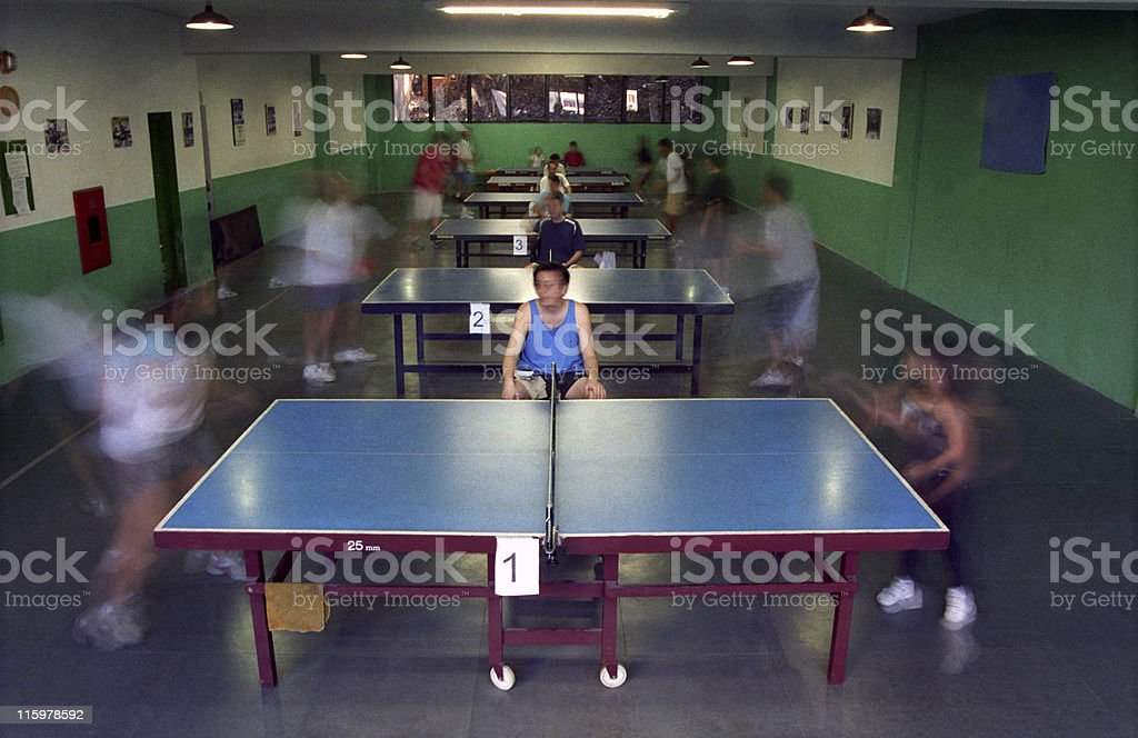 Table Tennis Club stock photo