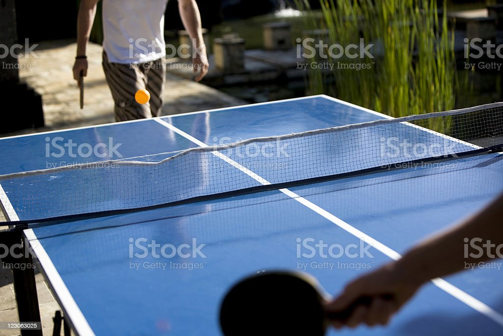 Table tennis competition royalty-free stock photo