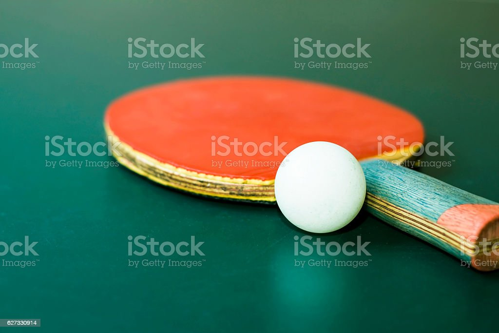 Table tennis equipment stock photo