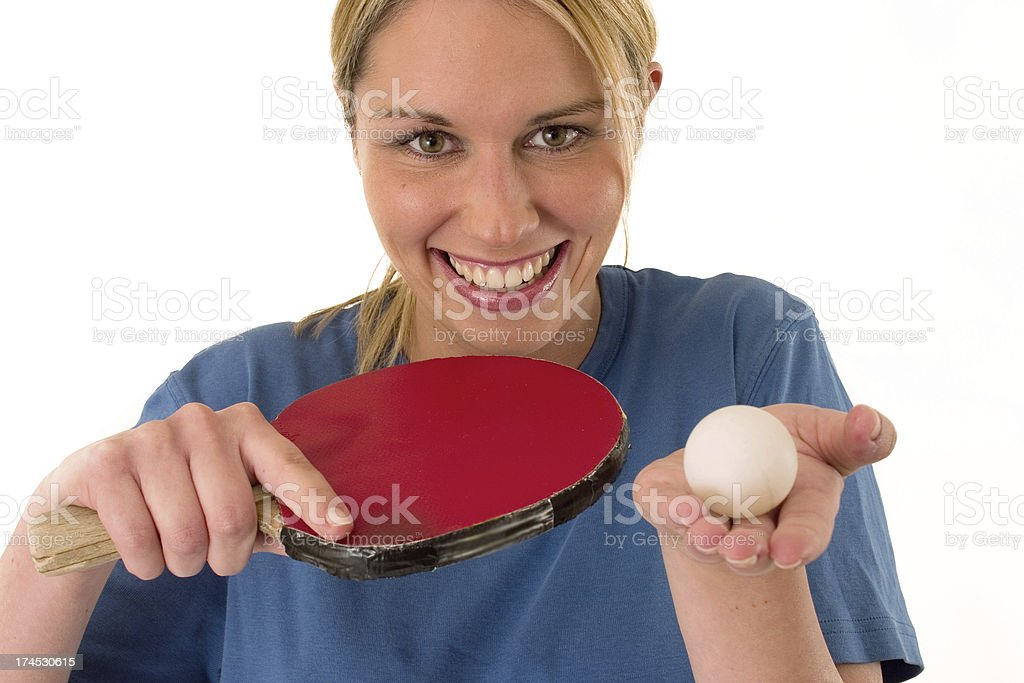 Table Tennis lady royalty-free stock photo
