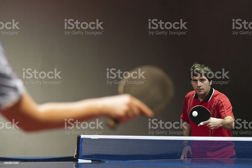 Table tennis match royalty-free stock photo