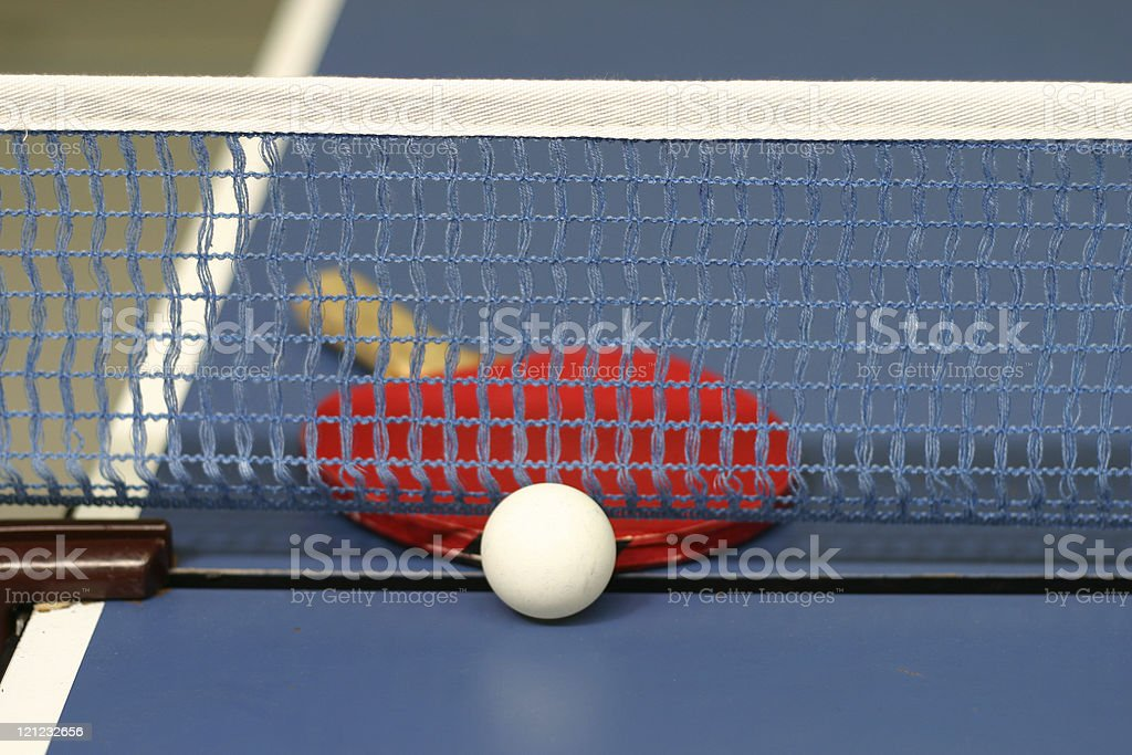 Table tennis net stock photo