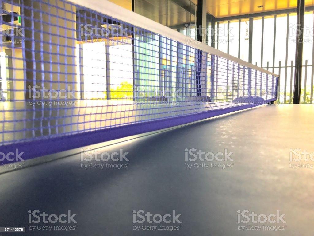Table tennis net stock photo