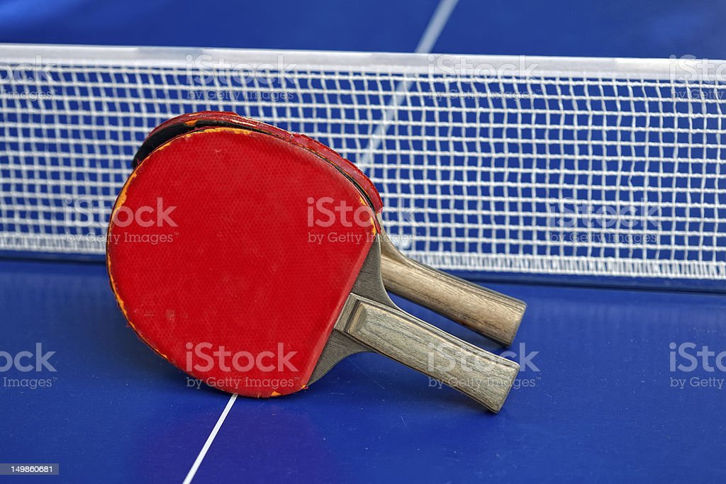 table tennis or ping pong rackets royalty-free stock photo