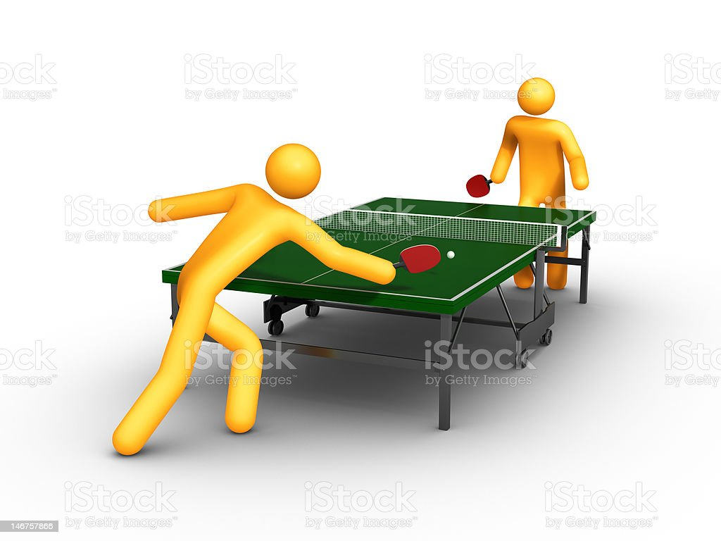 Table tennis (Isolated) royalty-free stock photo