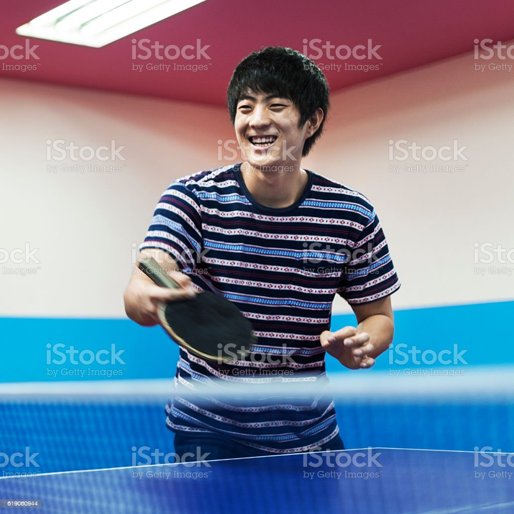 Table Tennis Ping-Pong Sport Activity Concept stock photo