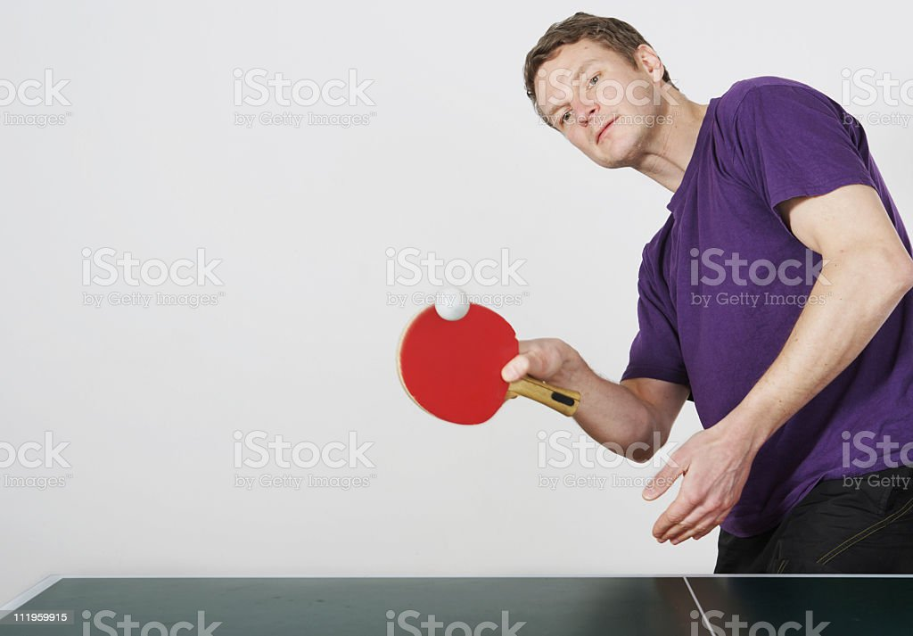 Table tennis player royalty-free stock photo