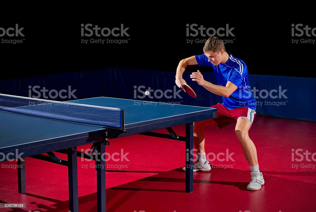 Table tennis player (isolated ver) stock photo