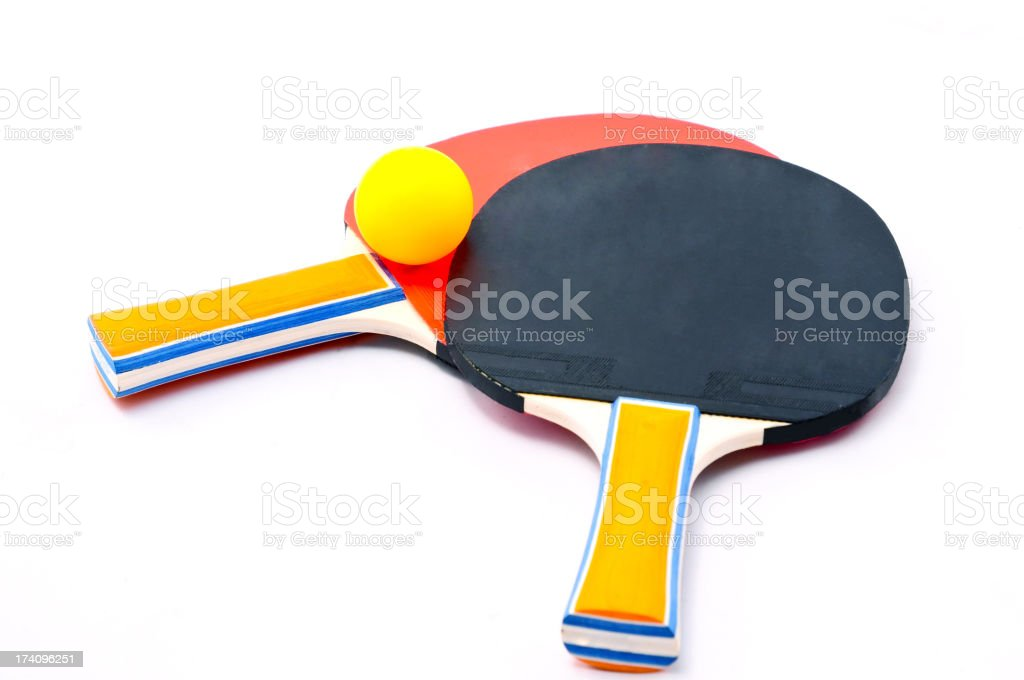 Table Tennis Racket and Ping Pong Ball royalty-free stock photo
