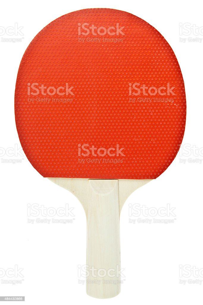 Table tennis racket isolated on white background stock photo