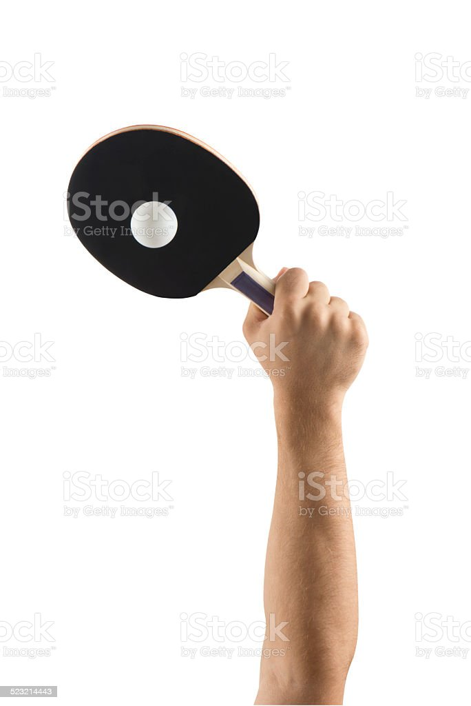 table tennis racket - sports equipments (Clipping path) stock photo