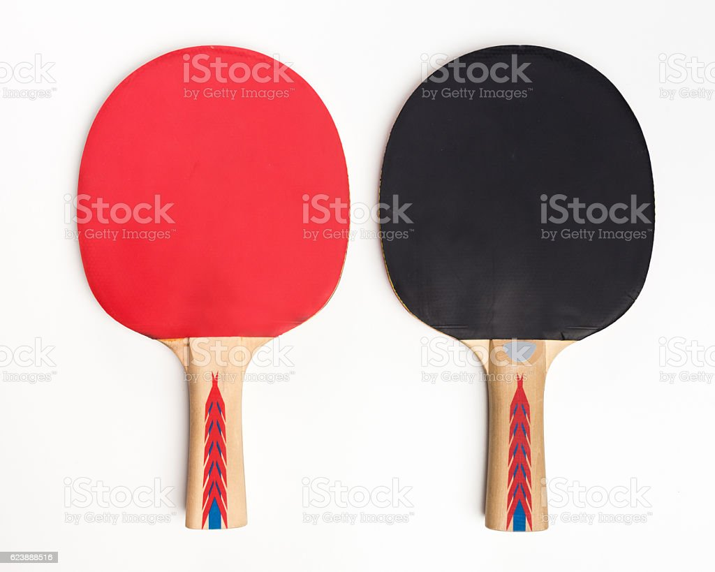 Table Tennis Rackets isolated stock photo