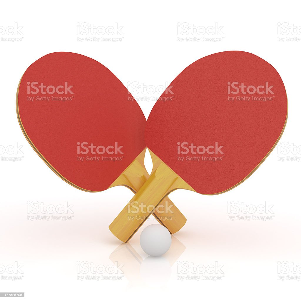 Table tennis rackets royalty-free stock photo