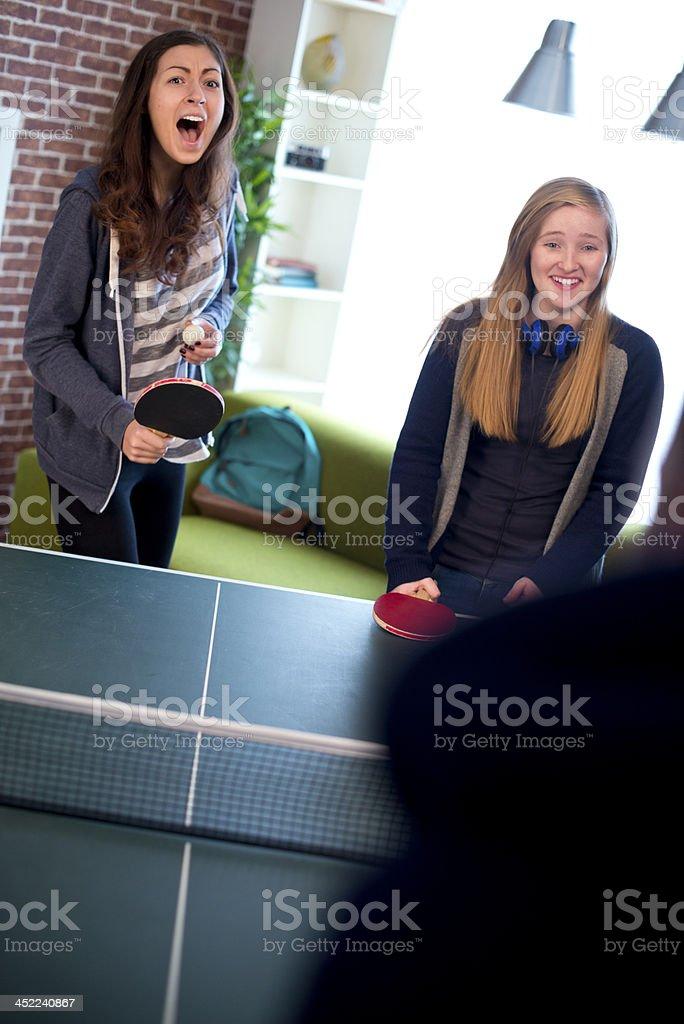 table tennis teens stock photo