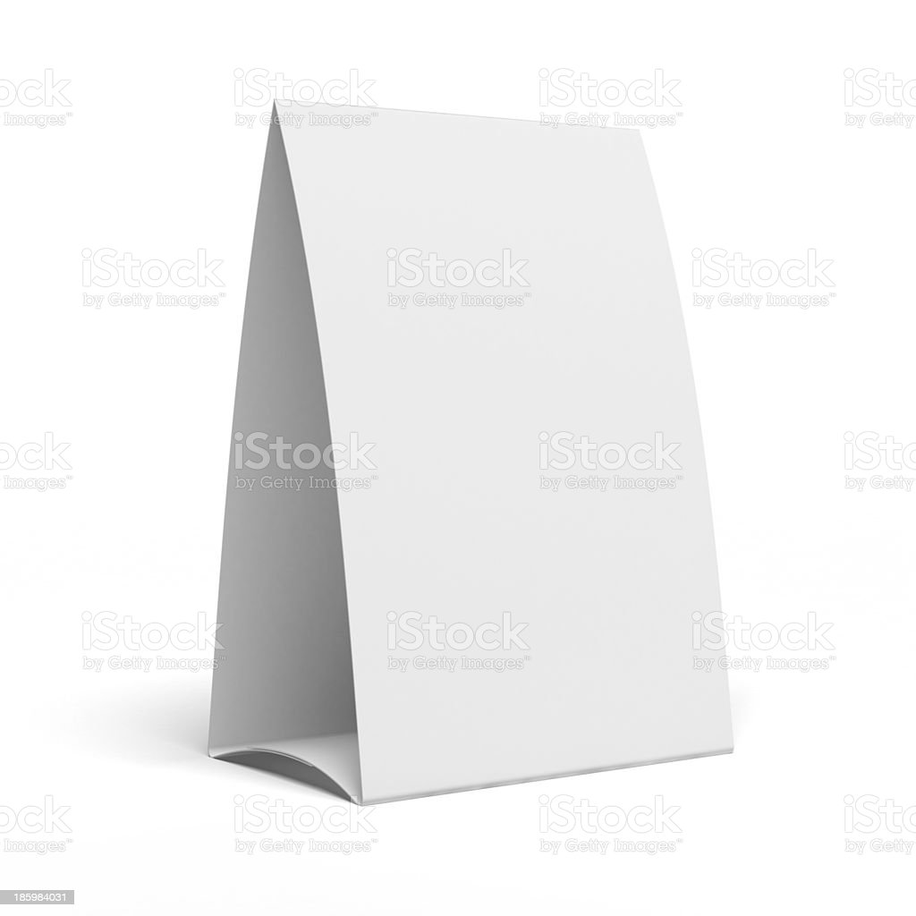 Table Tent stock photo