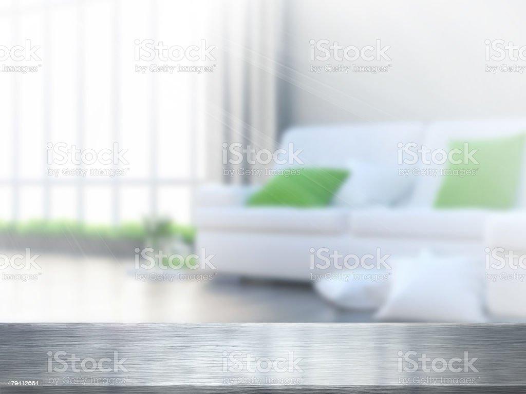 Table et atténuer l'intérieur photo libre de droits