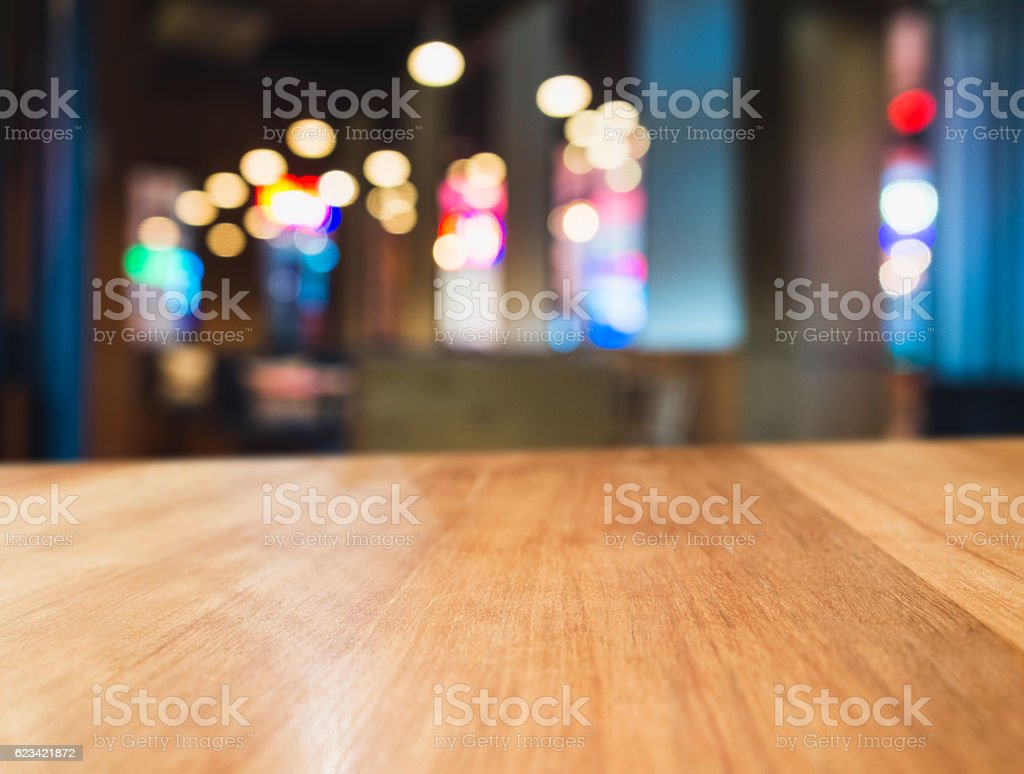 table top colourful light blurred bar restaurant cafe interior